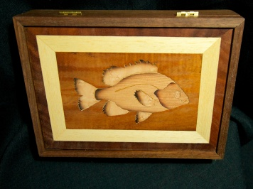 Bluegill box, walnut