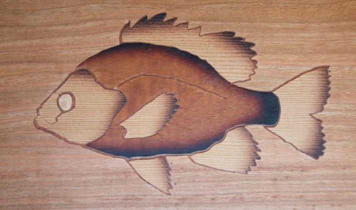 Bluegill inlay detail