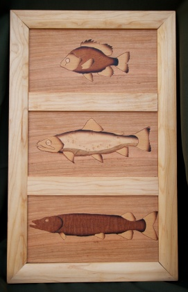 Bluegill, Trout, Pike Triptych