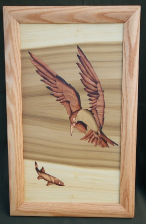 Caspian tern decorative panel