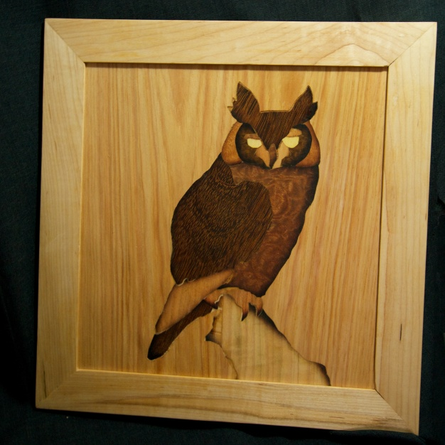 Great Horned Owl Panel, Maple