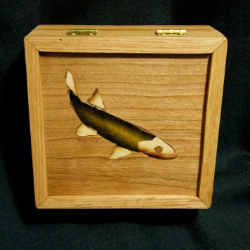 Rainbow Smelt box, oak